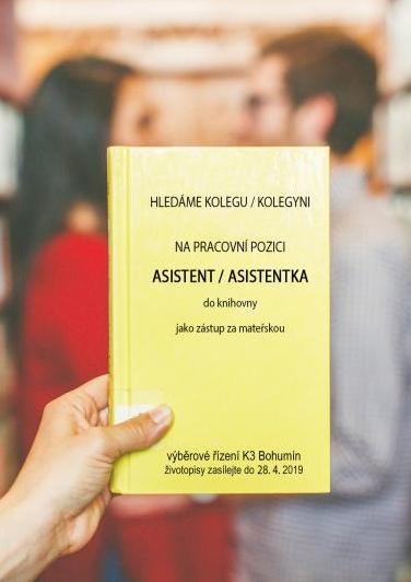 Zobrazit detail akce: Výběrové řízení - ASISTENT/ KA do knihovny