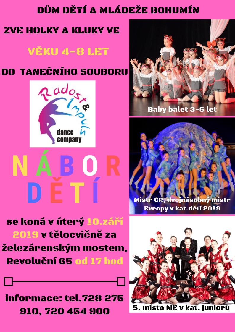 Zobrazit detail akce: Nábor nových dětí do tanečního souboru Radost & Impuls