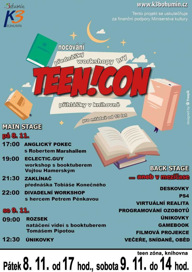 Zobrazit detail akce: TEEN!CON - dvoudenní setkání v teen zóně s nocováním