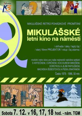 """Zobrazit detail akce: Zimní """"letní kino"""" na náměstí TGM. Mikulášské pohádkové retro promítání"""