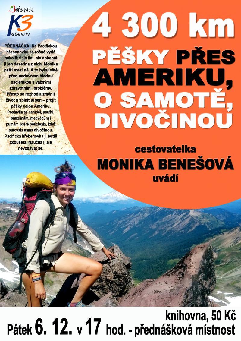 Zobrazit detail akce: 4300 kilometrů pěšky přes Ameriku, o samotě, divočinou