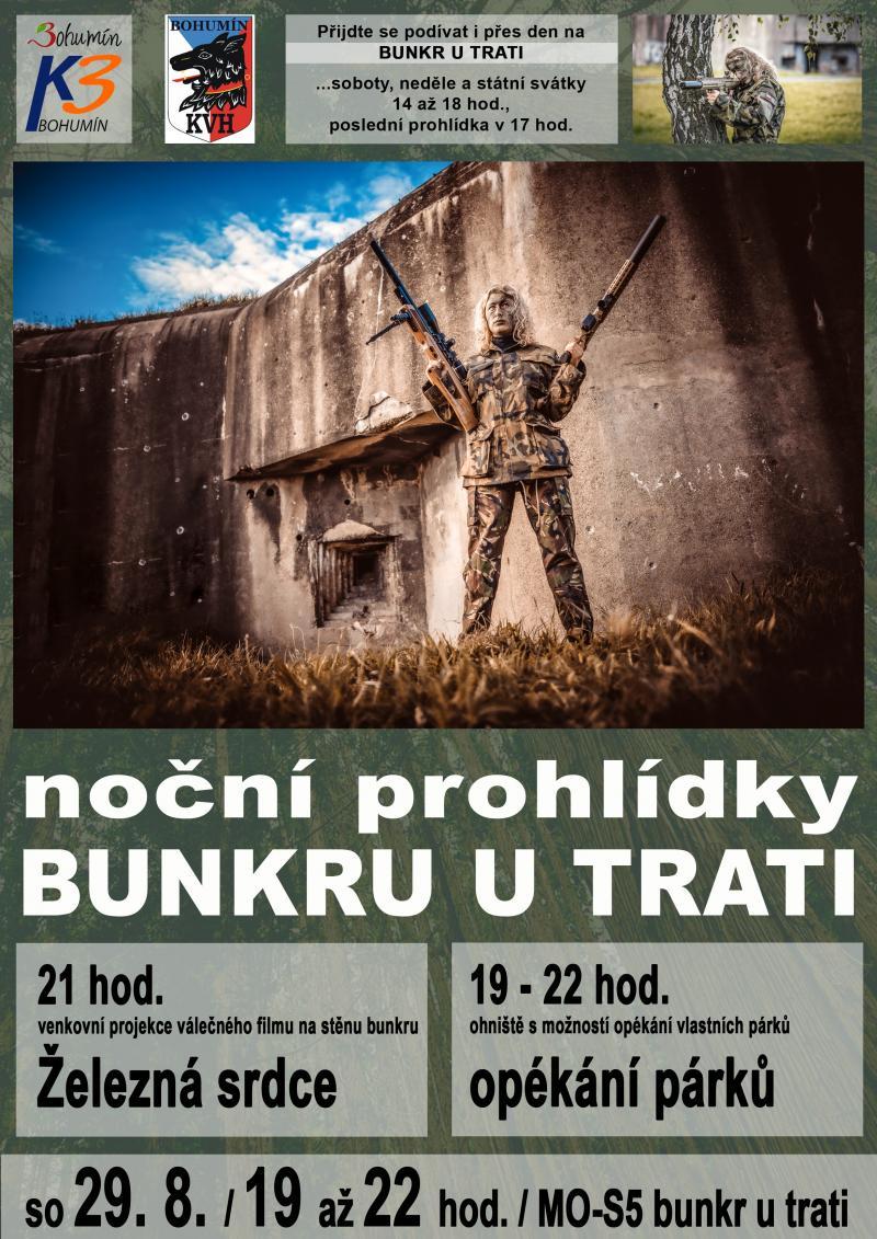 Zobrazit detail akce: Noční prohlídka bunkru + promítání na bunkru