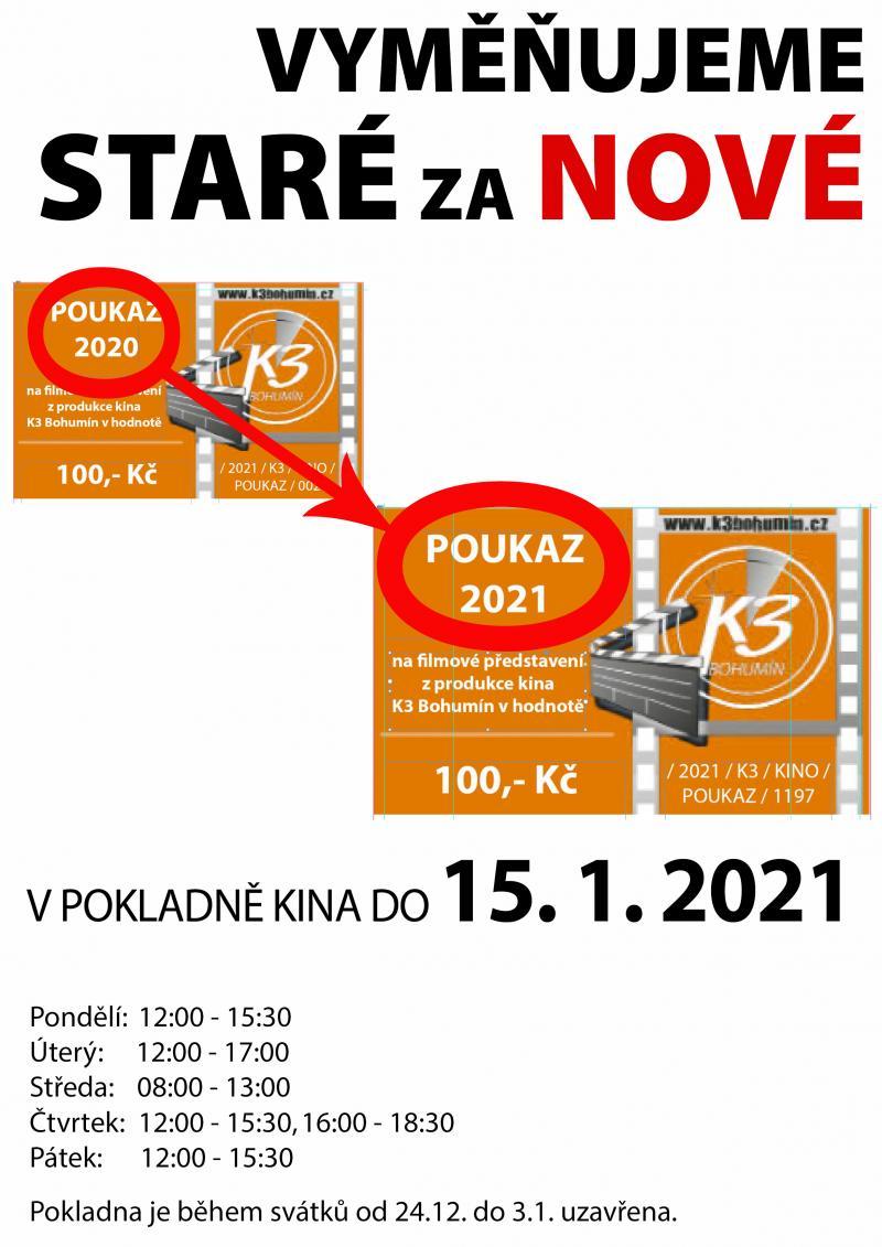 Zobrazit detail akce: Výměna poukázek 2020 za nové 2021